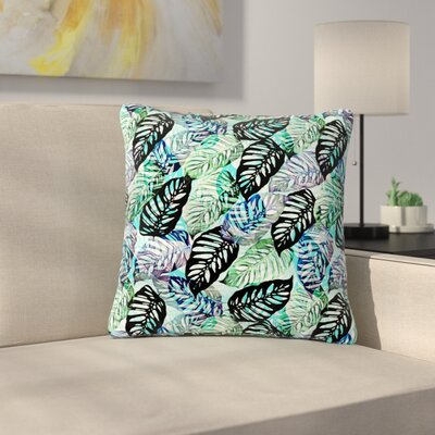 Victoria Krupp Tropical Leaves Nature Outdoor Throw Pillow Size: 18 H x 18 W x 5 D