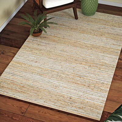 Jerlene Hand-Woven Beige Area Rug Rug Size: Rectangle 5 x 8
