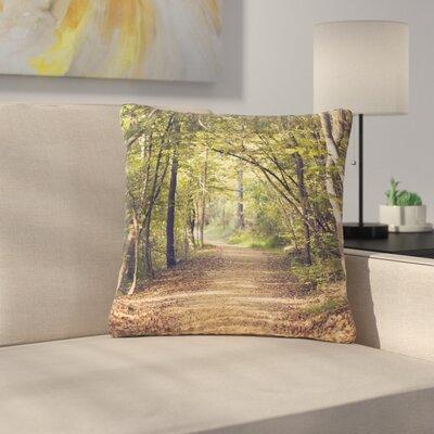 Ann Barnes Forest Light Nature Photography TreesOutdoor Throw Pillow Size: 16 H x 16 W x 5 D