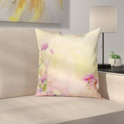 Vintage Magnolia Blooms Square Pillow Cover Size: 18 x 18