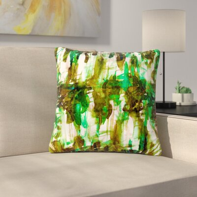 Ebi Emporium Noise Outdoor Throw Pillow Size: 16 H x 16 W x 5 D, Color: Green/Olive