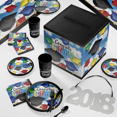 Graduation Celebration Deluxe Party Paper/Plastic Supplies Kit DTC2895E2D