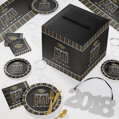 Graduation Deluxe Party Paper/Plastic Supplies Kit DTC2896E2D