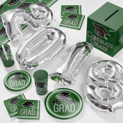 Graduation School Deluxe Party Paper/Plastic Supplies Kit DTCGREEN2D