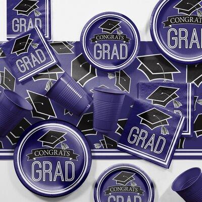 Graduation School Party Paper/Plastic Supplies Kit DTCPURPL2C
