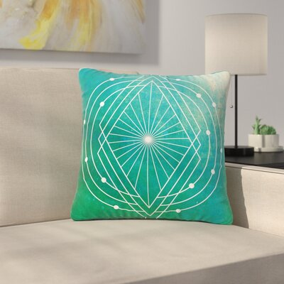 Matt Eklund Atlantis Geometric Outdoor Throw Pillow Size: 18 H x 18 W x 5 D