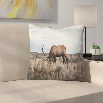 Luke Gram Wyoming USA Throw Pillow Size: 18 x 18