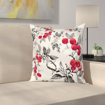 Mountain Ashes Artwork Square Pillow Cover Size: 20 x 20