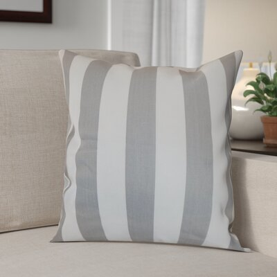 Knotts Outdoor 100% Cotton Throw Pillow Color: Storm Twill, Size: 18 H x 18  W