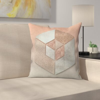 Hexagon Throw Pillow Size: 14 x 14