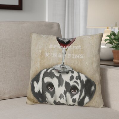 Gilder Dog Au Vin Dalmatian Throw Pillow