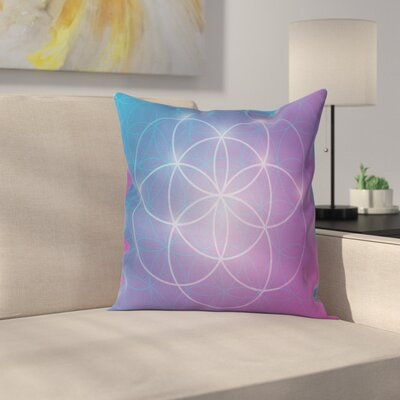 Flower of Life Circles Square Pillow Cover Size: 16 x 16