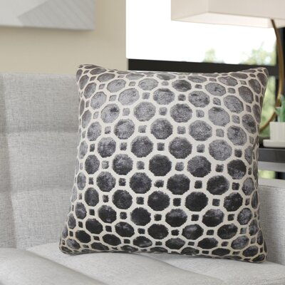 Richart Geometric Cotton Throw Pillow Color: Black