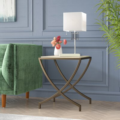 Ayleen End Table Color: Brass