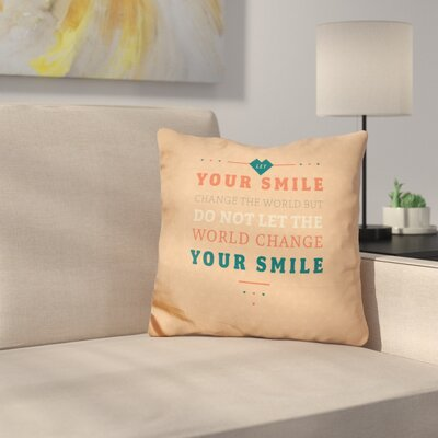 Cajust Smile Throw Pillow