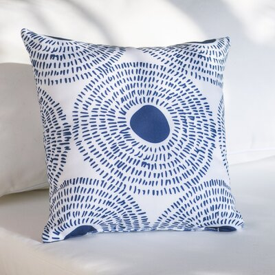 Keeley Circles Ii Outdoor Throw Pillow Size: 16 H x 16 W x 4 D