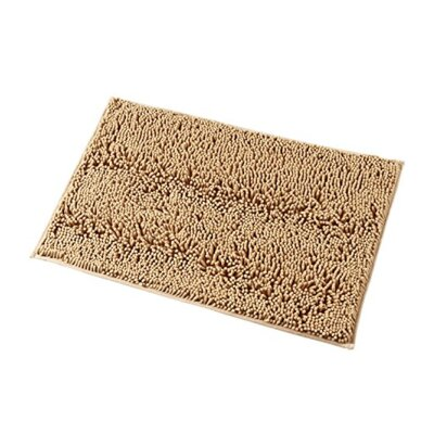 Dahlstrom Chenille Bath Rug Size: 17 W x 24 L, Color: Beige