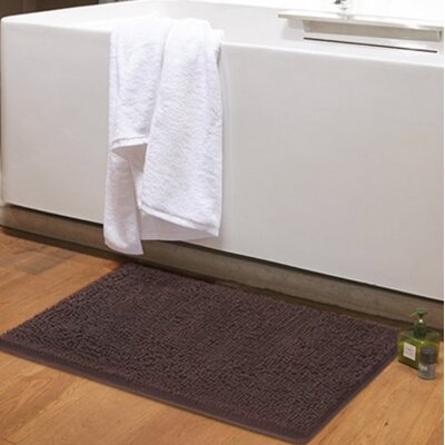 Dahlstrom Chenille Bath Rug Size: 20 W x 32 L, Color: Brown