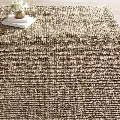 Svetlana Hand-Woven Natural/Grey Area Rug Rug Size: Rectangle 9 x 12