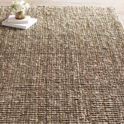 Svetlana Hand-Woven Natural/Grey Area Rug Rug Size: Rectangle 9 x 12