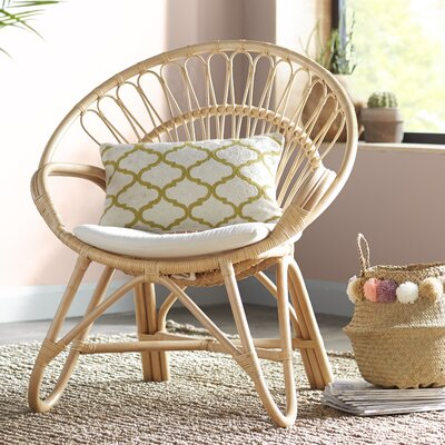 Sheena Rattan Armchair Color: Natural