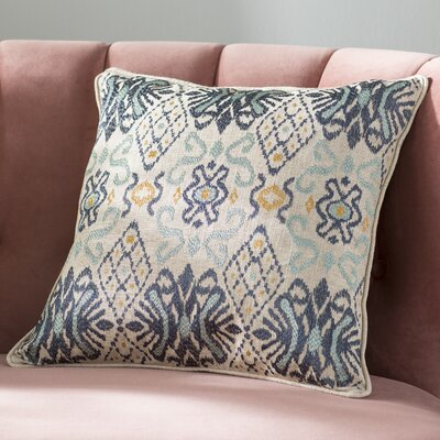 Glenside Ikat Throw Pillow Color: Indigo/Harbor/Curry