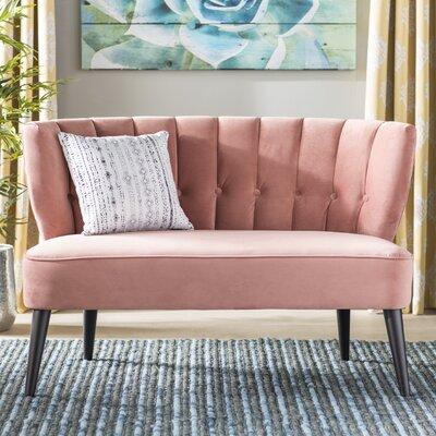 Kalea Tufted Settee Upholstery: Ash Rose