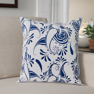 Klassen Indoor/Outdoor 100% Cotton Pillow Cover Color: White/Navy Blue