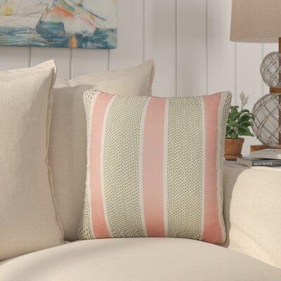 Varela Striped Cotton Throw Pillow Color: Lemon