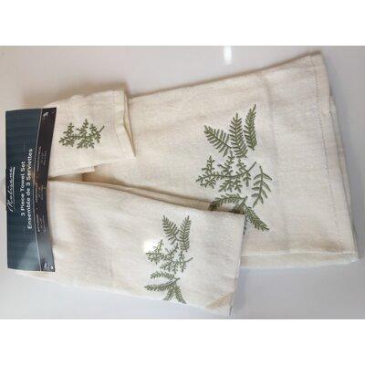 Green Leaf 3 Piece Towel Set