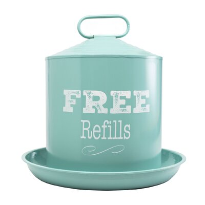Ranch Galvanized Double Wall Drinker (Set of 4) Color: Teal