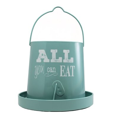 Ranch Galvanized Poultry Feeder (Set of 4) Color: Teal