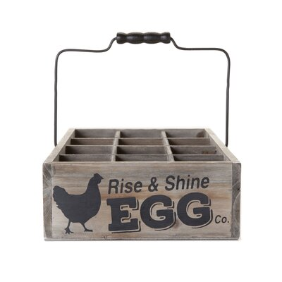 Ranch Vintage Style Egg Crate (Set of 12)