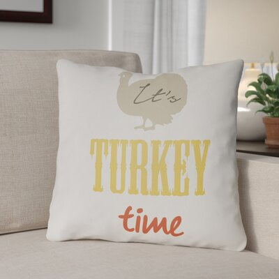Turkey Indoor/Outdoor Throw Pillow Size: 20 H x 20 W x 4 D, Color: White/Beige/Yellow/Orange