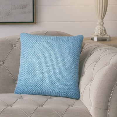 Nik Solid Down Filled Throw Pillow Size: 18 x 18, Color: Indigo