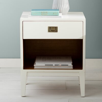 Rhoda Lacquer Nightstand Color: Off-White