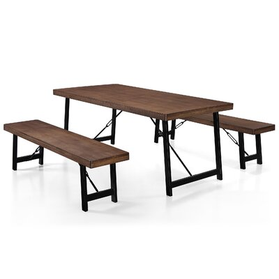 Renken 3 Piece Dining Set