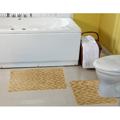 Warford Safety Water Absorbent Soft Bath Rug Set Color: Taupe