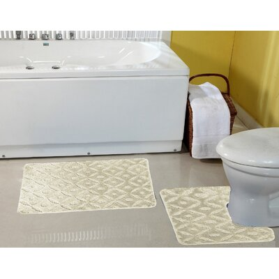 Warford Safety Water Absorbent Soft Bath Rug Set Color: Beige