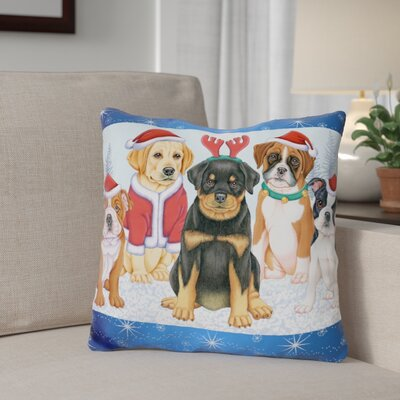 Berkey Christmas Pups Throw Pillow