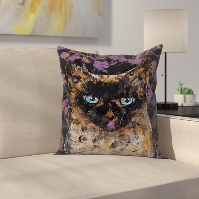 Michael Creese Balinese Cat Throw Pillow Size: 14 x 14