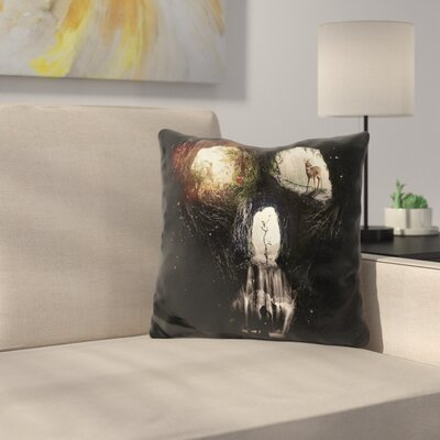 Cave Skull Pill Throw Pillow