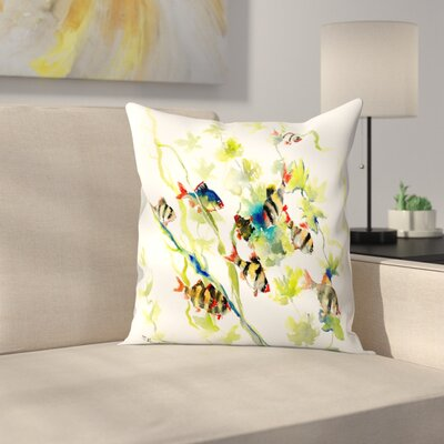 Tiger Barb Throw Pillow Size: 14 x 14