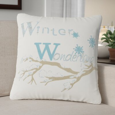Winter Wonderland 100% Cotton Throw Pillow