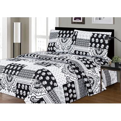 Leavy Printed Microfiber Sheet Set Size: King
