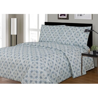 Dade Printed Microfiber Sheet Set Size: Full/Double