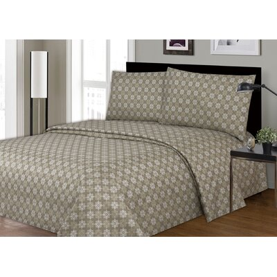 Daggett Printed Microfiber Sheet Set Size: King