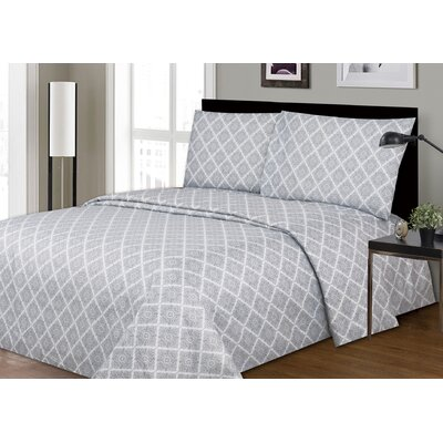 Dahill Printed Microfiber Sheet Set Size: Full/Double
