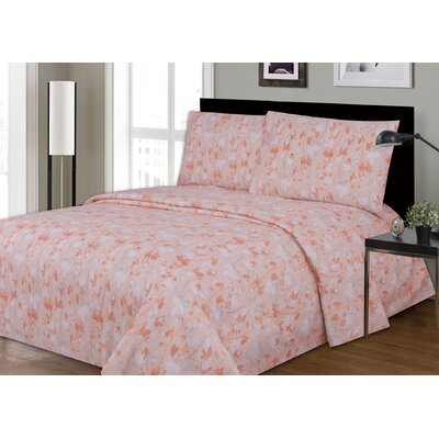 Dahl Printed Microfiber Sheet Set Size: King