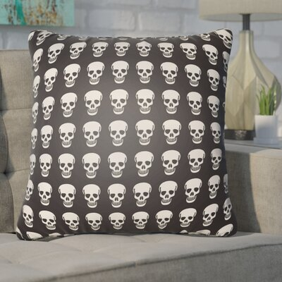 Calindra Skulls Throw Pillow Size: 18 H x 18 W x 4 D, Color: Black